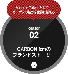 Made in Tokyo として、カーボンの魅力を世界に伝える Reason02 CARBON-izmのブランドストーリー
